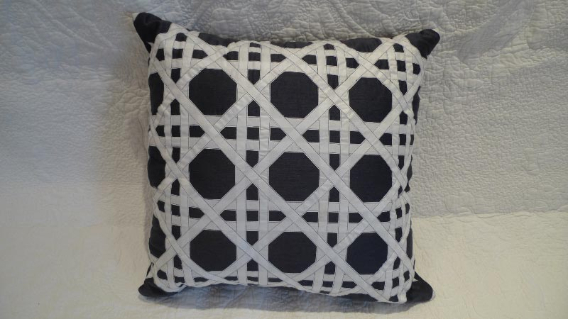 Navy & white cushion - $50