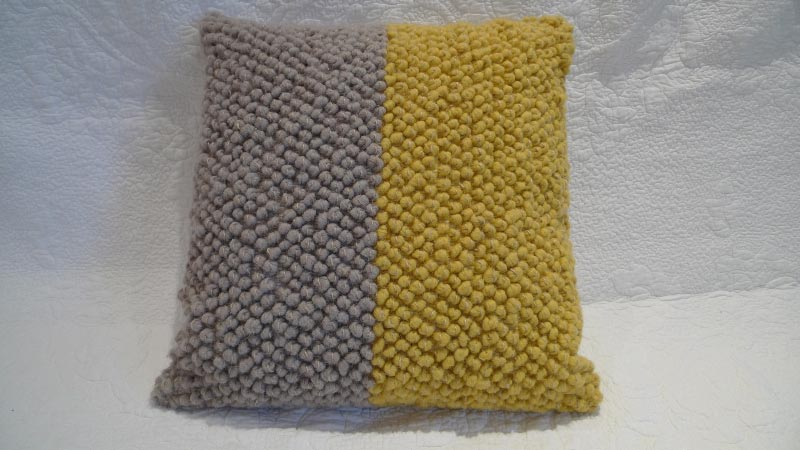 Grey & yellow cushion - $40 (2 available)