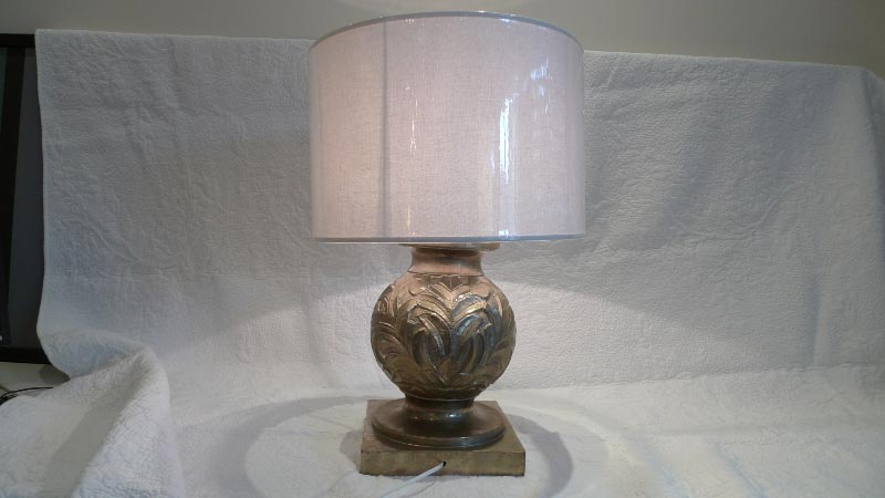 Large lamp col. brass - $220