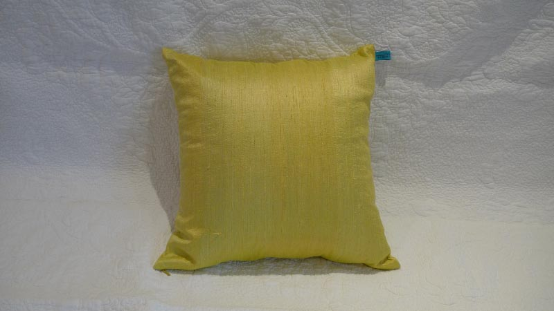 Lime silk cushion - $50