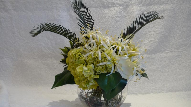 Synthetic flowers & greenery (excl. vase) - $50