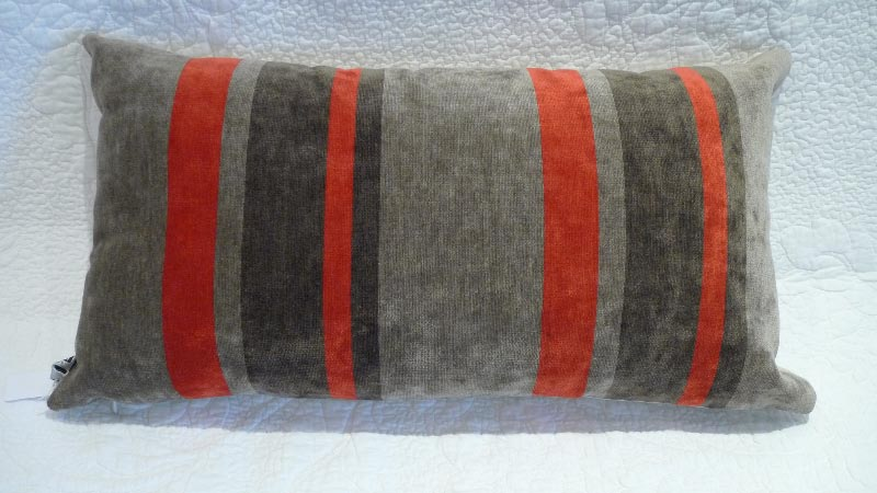 Grey & red cushion - $50 (2 available)