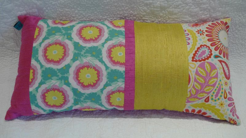 Fuchsia lumbar cushion - $65