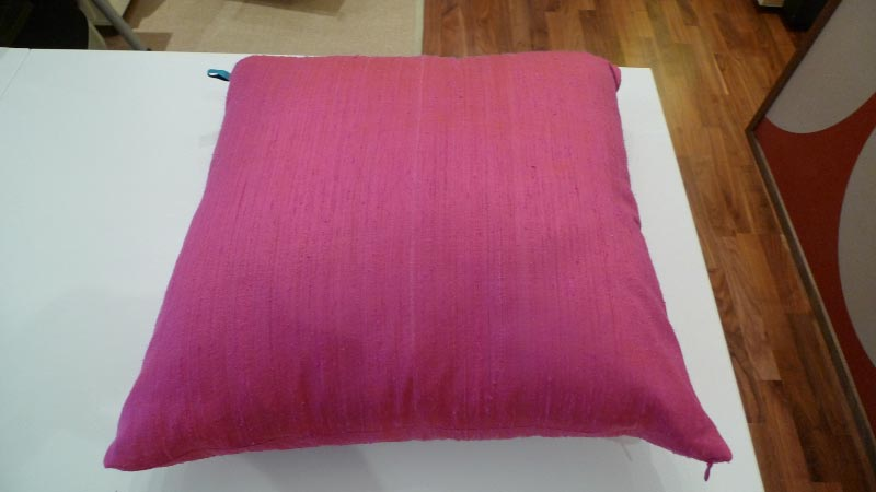 Fuchsia silk cushion - $50