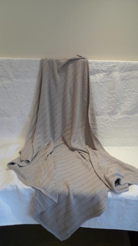 Grey woollen throw - $55