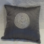 100% silk cushion, handmade in India - $50 (2 available)