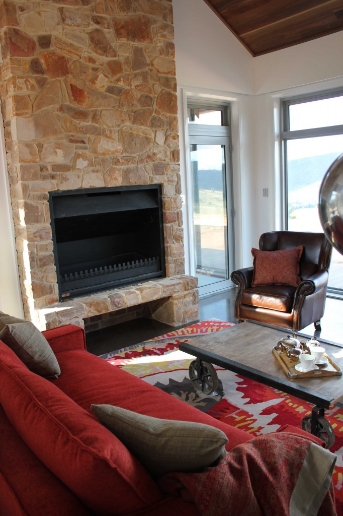 Custom made lounge_ fireplace_ rug