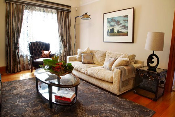 Custom made rug lounge and furnishings