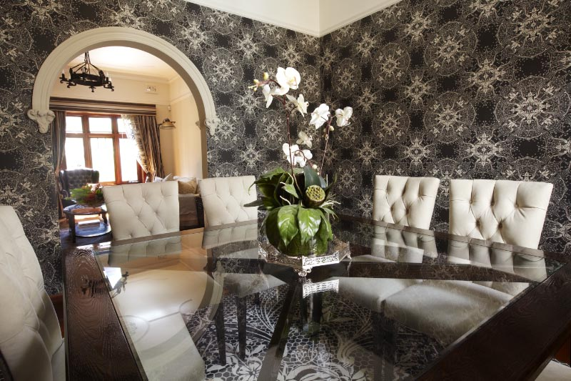 Catherine Martin design wallpaper and rug